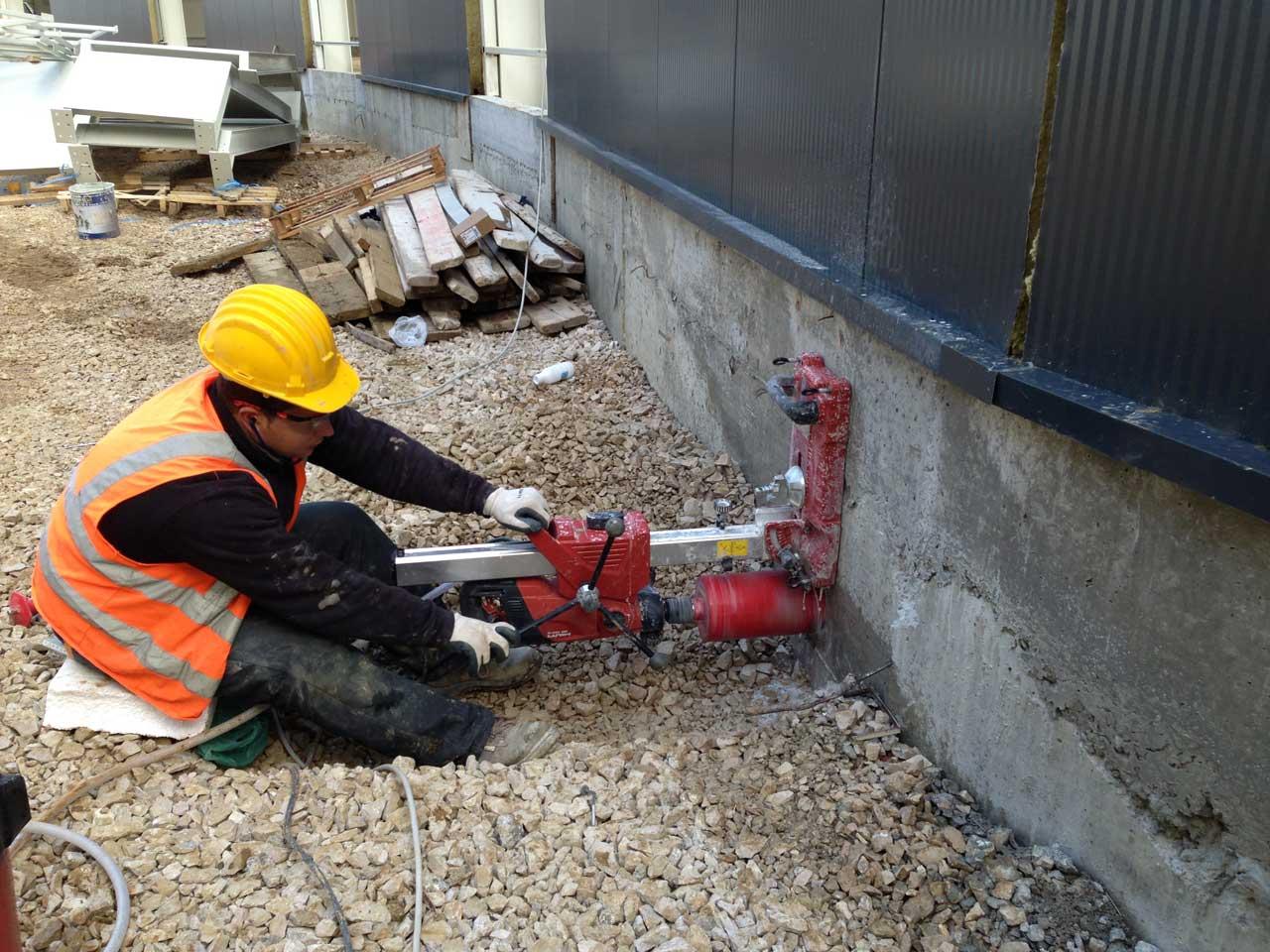 Cutting and interference in concrete | JON Albania | jon.al | jonshpk